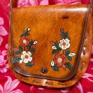 1960's Handmade Genuine Leather Handbag